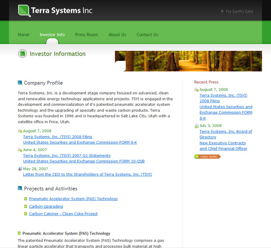 Terra Systems Website